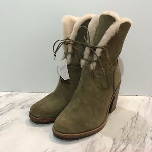 UGG Jerene Olive Green Heeled Boot